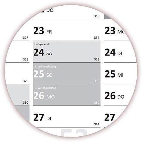 XXL Wandkalender DIN A0 2020 + 2021 + 2022 gerollt (grau2) Wandplaner sehr groß im Format (840 x 1188 mm) mit extra großen Tageskästchen (Jahreskalender werden gerollt versendet)