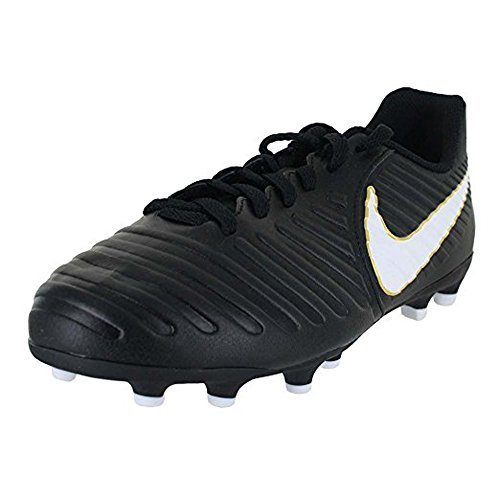 d95f61a58a76 Nike Kids Jr. Tiempo Rio IV (FG) Firm Ground Soccer Cleat Black/White Size  4 M US