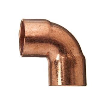 Cornat de soldadura ángulo 90 grados, cobre, 2 manguitos, a 18 mm, 10/1 pieza, t569018: Amazon.es: Bricolaje y herramientas