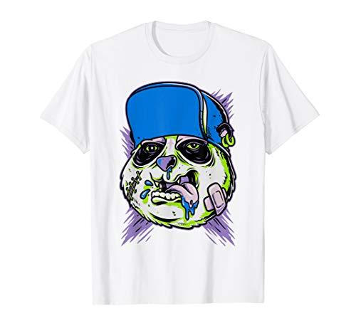 Funny Halloween Zombie Panda Bear T-shirt Costume Mens Gift