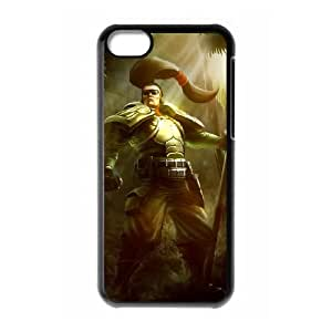 iPhone 5c Cell Phone Case Black League of Legends Commando Xin Zhao KWI8911344KSL