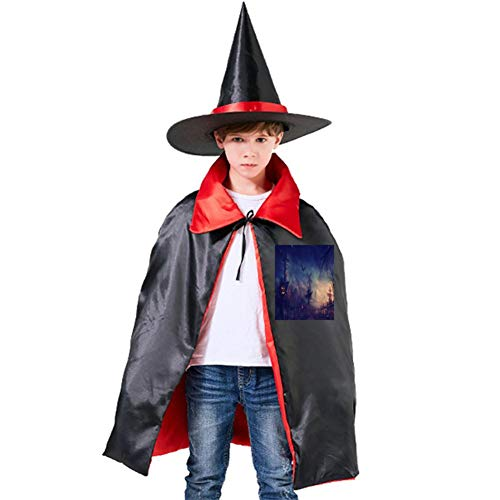 A Weedy Night Halloween Shawl and Witch Hat for Children Kids Red ()