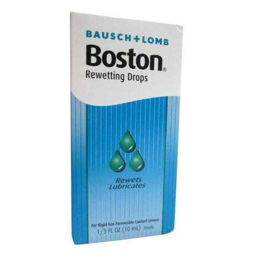 Drops Lens Rewetting (Bausch+Lomb Rewetting Drops for Rigid Gas Permeable Contact Lenses, 1/3-Ounce Bottles (Pack of 3))