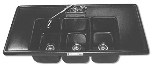Moli International Mid-Size Three Compartment Drop In Sink With Drainboards