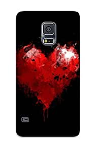 New Cute Funny Stylized Heart Case Cover/ Galaxy S5 Case Cover For Lovers