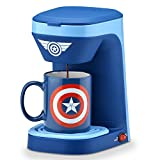 Marvel Mva-123CN Captain America Single Serve Coffee Maker, Blue/Red/White