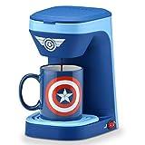 Marvel MVA-123CN Captain America Single Serve Coffee Maker, Blue/Red/White