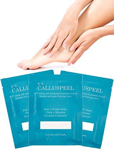 Amazing Foot Callus Solution!!! E-Z Callus Foot Peel Mask/Callus Remover/ 3 Pack Refill by E-Z Callus