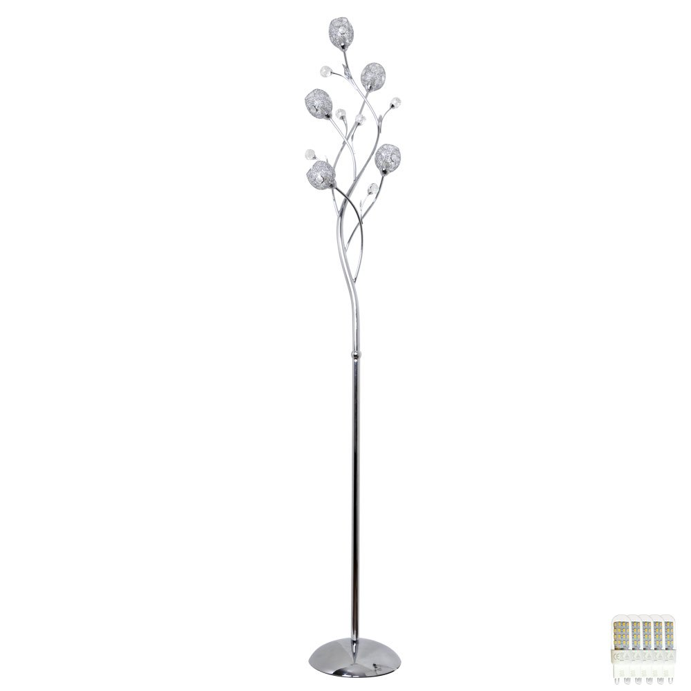 Steh Lampe Blätter Baum Design Wohn Zimmer Drahtgeflecht Glas ...