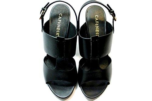 CafèNoir - Sandalias de vestir de Piel para mujer negro