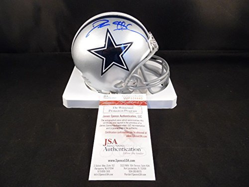 Deion Sanders Helmet - Deion Sanders Signed Autograph Dallas Cowboys Mini Helmet JSA Certified Certificate