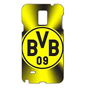 3D Unique Style Borussia Dortmund 09 FC Black And Yellow Pattern Hard Plastic Phone Case For Samsung Galaxy Note 4 Borussia Dortmund Football Club Logo Print Design For Boys
