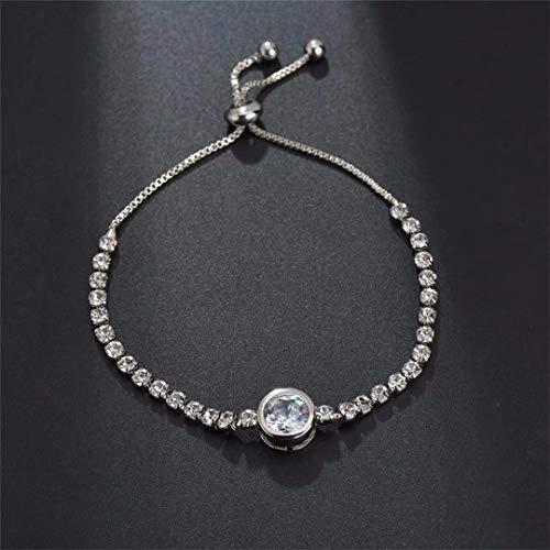 (CARDEON Tennis Bracelet Round Gemstone Jewelry Christmas Gift Classic Tennis Bracelet Bangles )