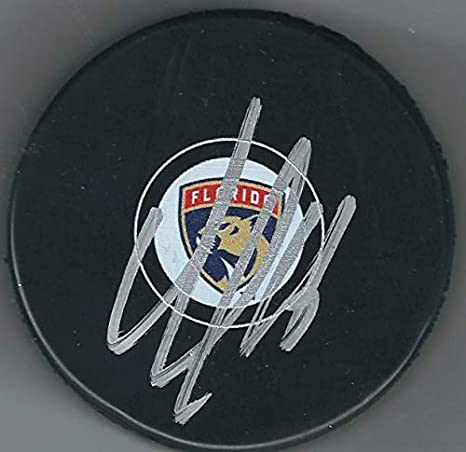 Image Unavailable. Image not available for. Color  Autographed Aleksander  Barkov Florida Panthers Hockey Puck 7edbd39eb