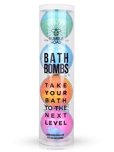 Bath Bombs Gift Set – All-Natural Lush gift For Women, Mom, Girls, Teens, Her, Kids – Bath Fizzies Fizzer – birthday gifts for women – Best Cheap Large