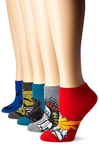 Star Wars Women's 5-Pack No Show Socks, Mutli, 9-11