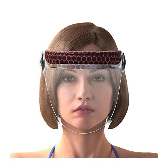 Steelbird YS-100 7Wings Helmet Visor Hexa Pink Print Face Shield, Static Stylish Designer Full Face Protector For All