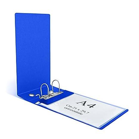 Clam - Archivador para sobres horizontales y folios UNI A4 con lomo de 8 cm y mecanismo de palanca, color turquesa: Amazon.es: Oficina y papelería