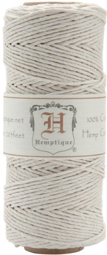#20 Hemp Cord Spool White, 1mm thick, 62.5 meters (Hemp 1 Mm)