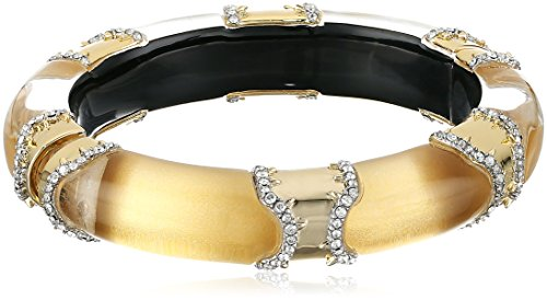 Alexis Bittar Pave Edged Segmented Hinge Bangle Bracelet