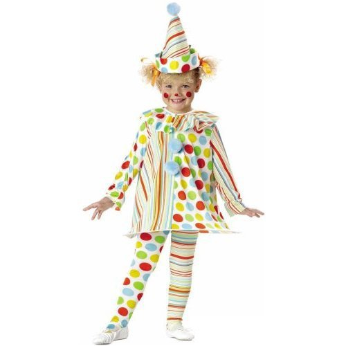 Toddler Clown Costume Girl (Candy Clown Costume: Toddler's Size)