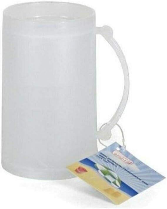 azorex Pack 3 Unidades Jarra Enfriadora Vaso Hielo Taza de Cerveza para Congelar Taza de Helado Plástico 15 cm (3 Unidades): Amazon.es: Hogar