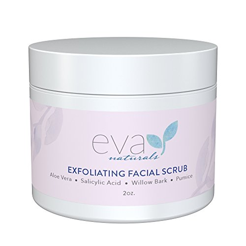 Eva Naturals - Exfoliating Facial Scrub - Helps Reduce Acne, Pores, Blackheads, Dead Skin Cells - 2 oz. by Eva Naturals