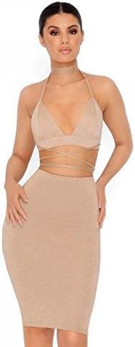 GYH Mujer Sexy Club Nocturno Verano Falda y Top Camisola Camisa ...