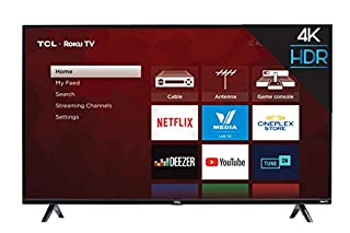 """TCL 49S425-CA 4K Ultra HD Smart LED Television (2019), 49"""" (B07DY3S554) 
