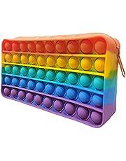 Office Stationery Bubble Pencil Case, Children's Stationery Storage Bag,Simple Fidget Bag, Sensory Toy Makeup Bag Pen Case