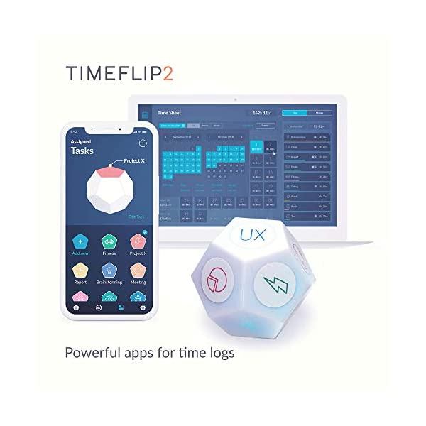 Timeflip2 Time Tracker Interactive Cube with Mobile App and Pomodoro Timer 4