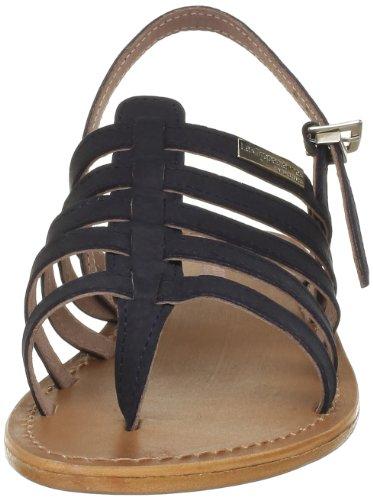 Les Tropéziennes - Sandalias de cuero para mujer Azul (marine)