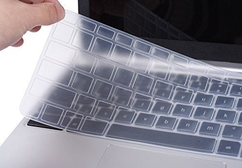 CaseBuy Silicone Keyboard Protector Case Cover for HP Stream 11.6 Inch Laptop US Version (Clear)