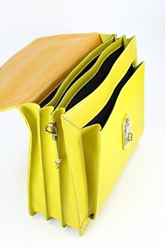 Belli - Bolso de mano Mujer amarillo limón