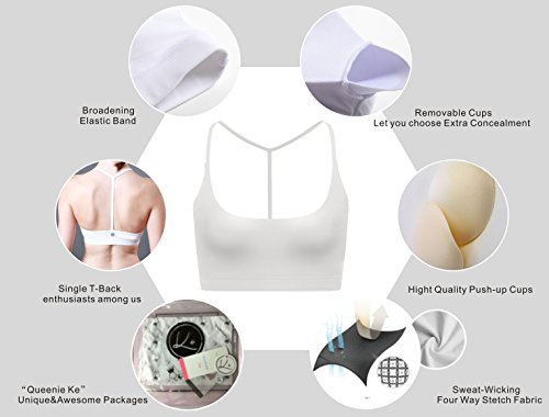 8a9b099d03753 Women s Light Support Cross Back Wirefree Pad Yoga Sports Bra ...