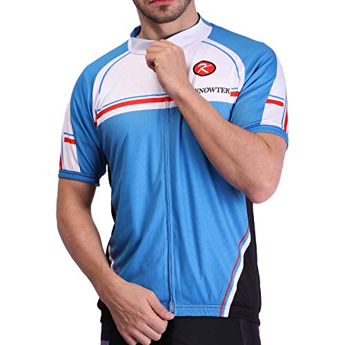 Knowtek Men's Cycling Jersey Short Sleeve Bicycle Shirt Quick Dry Breathable Biking Shirt Bike Clothing