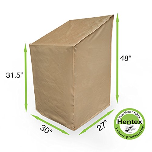Hentex 5508 Garden Stacking Chair Cover, Fits Stack of up to 6-8 Chairs,Waterproof, UV Protection, Cold-resistant, Scratch-free Soft Interior, Advanced Functional 3-layered Fabric (30