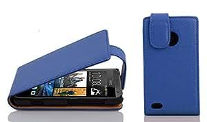 Cadorabo - Funda Flip Style para HTC DESIRE 300 de Cuero Sintético - Etui Case Cover Carcasa Caja Protección en AZUL-REAL