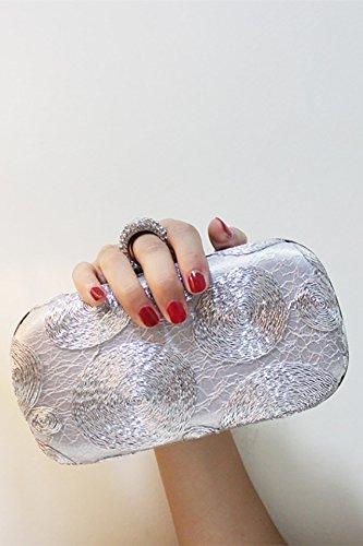 Star Ring Head Diamond Evening Bag Banquet Bag Handbags Handbag Shoulder Bag Holding Small Bag nal Package (Silver -