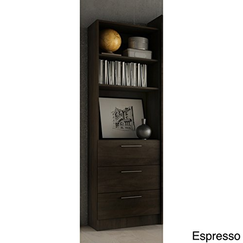 Stellar Home Furniture Storage Unit with Drawers in Espresso by Stellar Home
