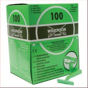 Wilkinson Einweg-Rasierer, 100 Stück, Krankenhaus-Fertig-Rasierer