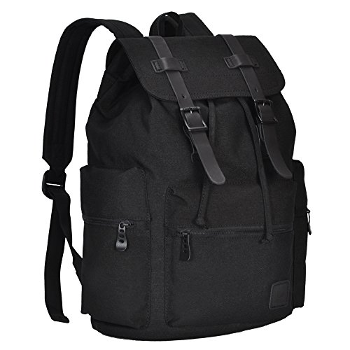 Hynes Eagle Cool Polyester Travel Backpack Lightweight Daypack 21L Ash Black Large