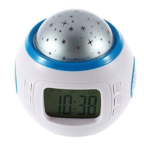 Vsence Desk Led Digital Talking Alarm Clock With Five