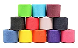 Mueller Underwrap - PreWrap for Athletic Tape / Taping / Head/Hair Bands - Rainbow Assorted Colors -