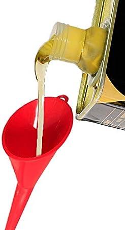 Rosso JOYKK Imbuto per Olio a Collo Lungo in plastica Multifunzione per rifornimento Auto Oli per Auto