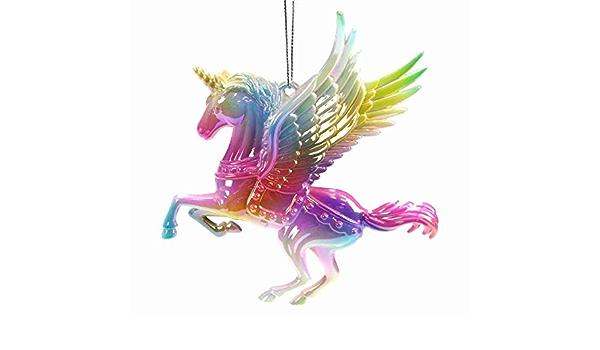 "Lying White Unicorn Garden Ornament 33cm 13/"" High"