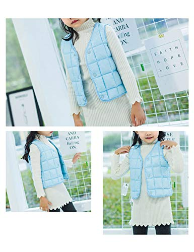 Warm Waistcoat Boys Light Jacket Gilet Child Down Casual Slim Lightweight fit Vest Girls Blue Outwear Sleeveless BESBOMIG Cotton for E76qTww