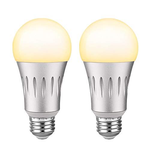 Brizled Smart Light Bulbs, A19 Soft White(2700K) Wi-Fi LED Light Bulbs, Dimmable Smart Bulbs 60W Equivalent Smart LED Bulbs, Compatible with Alexa/Google Assistant/IFTTT, No Hub Required, E26, 2 Pack For Sale