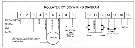 41znnxhJUCL._SX466_ roller shutter & roll up garage door remote control amazon co uk electric shutter wiring diagram at virtualis.co