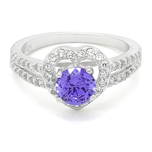 Sterling-Silver-CZ-Heart-Halo-Statement-Ring-Purple